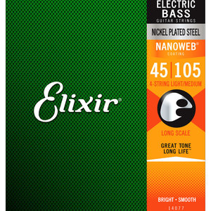 Elixir Elixir Nanoweb Nickel Plated Steel Bass Strings - Long Scale Medium 50-105