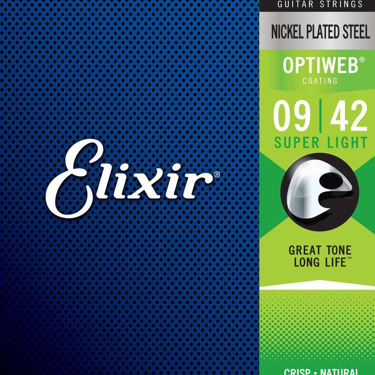 Elixir Elixir OptiWeb Electric Guitar Strings - Super Light 9-42