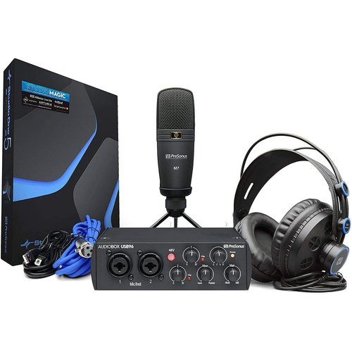 PreSonus PreSonus AudioBox 96 Studio - 25th Anniversary Edition 25th Anniversary Edition AudioBox USB 96, HD7 Headphones, M7 Mic, Studio One Artist