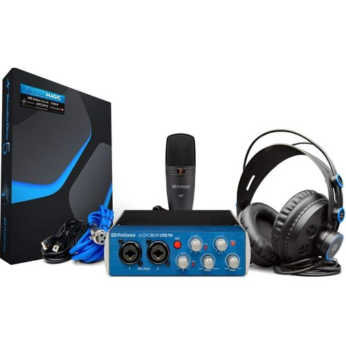 PreSonus PreSonus AudioBox 96 Studio AudioBox USB 96, HD7 Headphones, M7 Mic, Studio One Artist