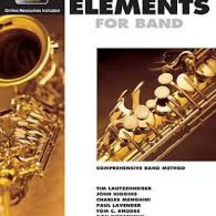 Essential Elements for Band - Eb Alto Saxophone Book 2 with EEi