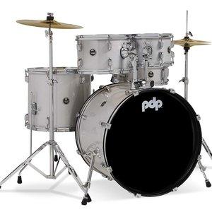 "PDP PDP Center Stage 5 Piece Drum Set (22"" Kick) w/Cymbals - Diamond White"