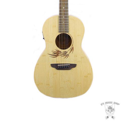 Luna Guitars Luna Woodland Bamboo Parlor A/E Acoustic Guitar