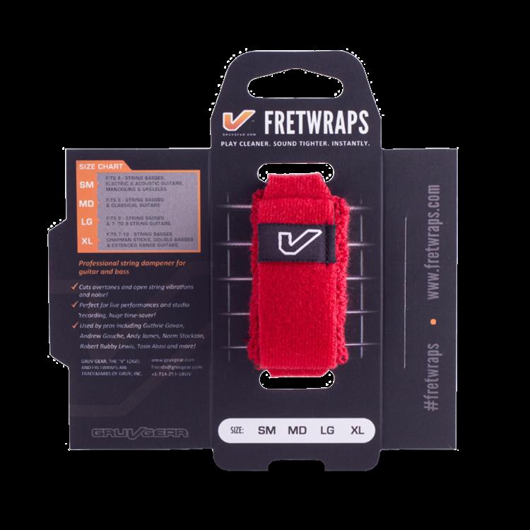 "Gruv Gear Gruv Gear FretWraps HD ""Fire"" Guitar String Muters/Dampeners 1-Pack (Red, LG)"