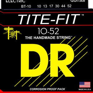 DR DR Tite-Fit Nickel Plated Electric Guitar Strings: Medium to Heavy 10-52