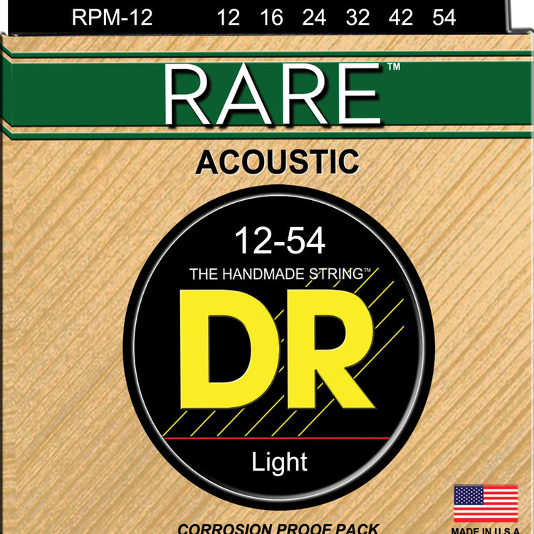 DR DR Rare Phosphor Bronze Acoustic Guitar Strings: Light 12-54