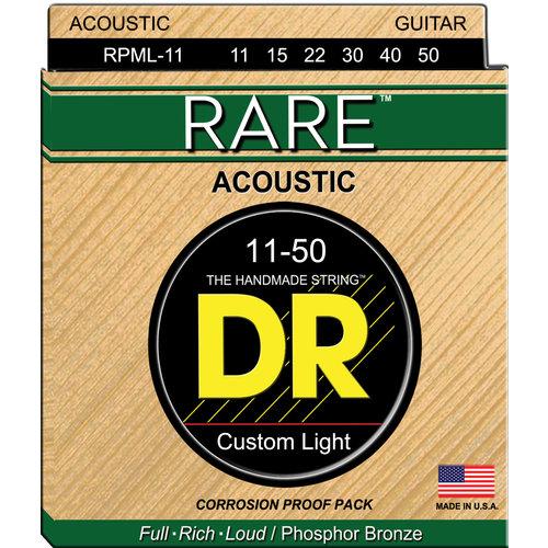 DR DR Rare Phosphor Bronze Acoustic Guitar Strings: Custom Light 11-50