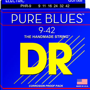 DR DR Pure Blues Pure Nickel Electric Guitar Strings: Light 9-42