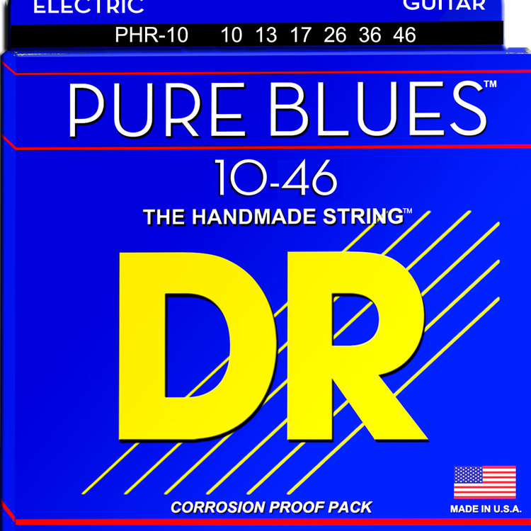 DR DR Pure Blues Pure Nickel Electric Guitar Strings: Medium 10-46