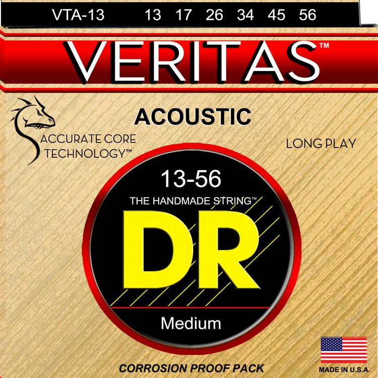DR DR Veritas Coated Core Technology Acoustic Guitar Strings: Medium 13-56