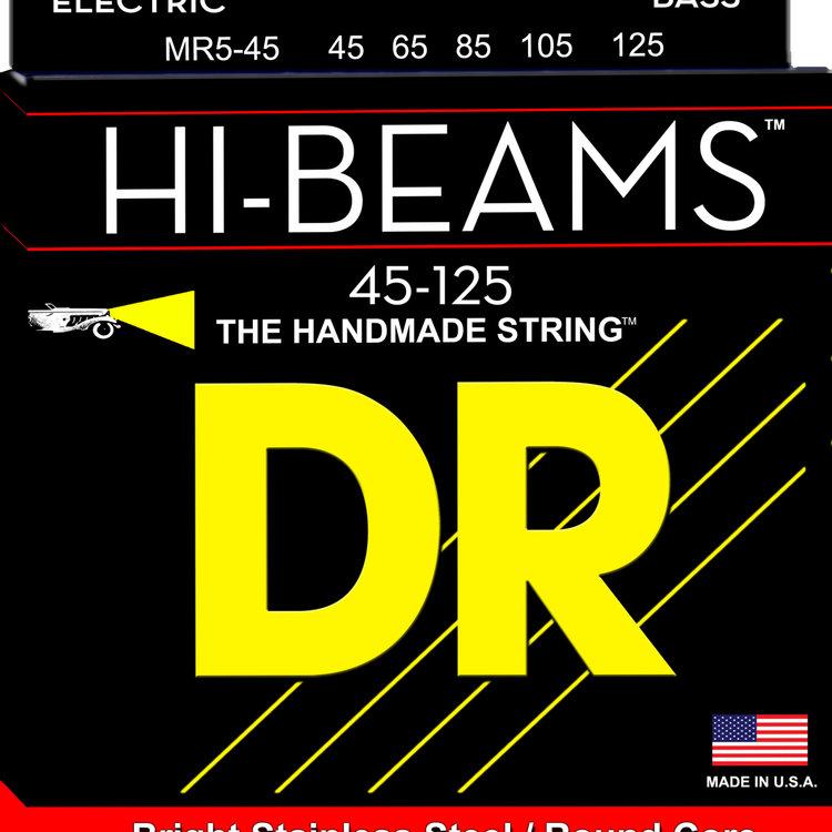 DR DR Hi-Beam Stainless Steel Bass Strings: 5-String Medium 45-125