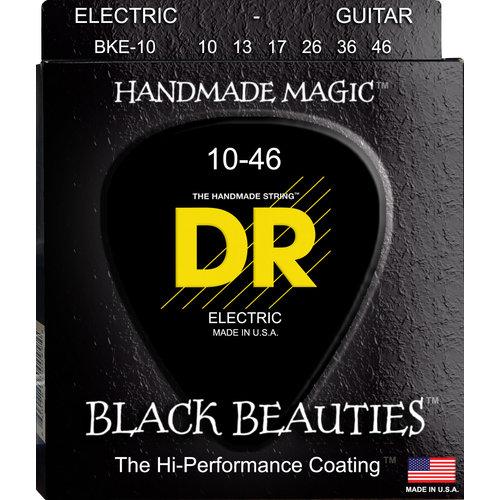 DR DR Black Beauties Black Colored Electric Guitar Strings: Medium 10-46