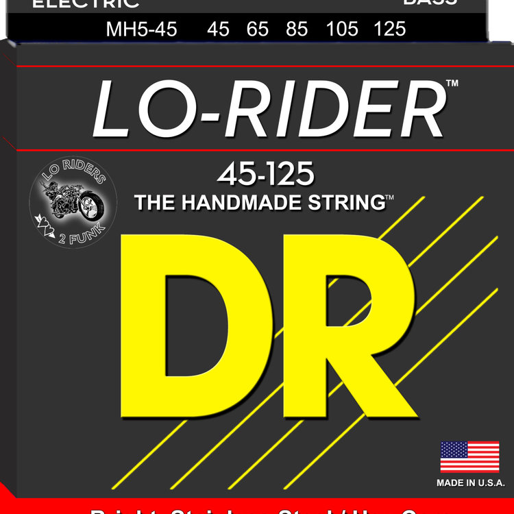 DR DR Lo-Rider Stainless Steel Bass Strings: 5-String Medium 45-125
