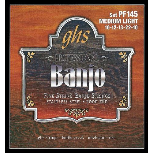 GHS GHS 5-String Banjo Strings, Medium-Light