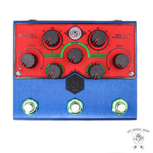 "Beetronics Beetronics Limited Edition ""Blue Jam"" Royal Jelly Overdrive/Fuzz Blender"