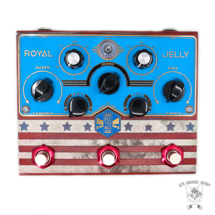 "Beetronics Beetronics Limited Edition ""America"" Royal Jelly Overdrive/Fuzz Blender"