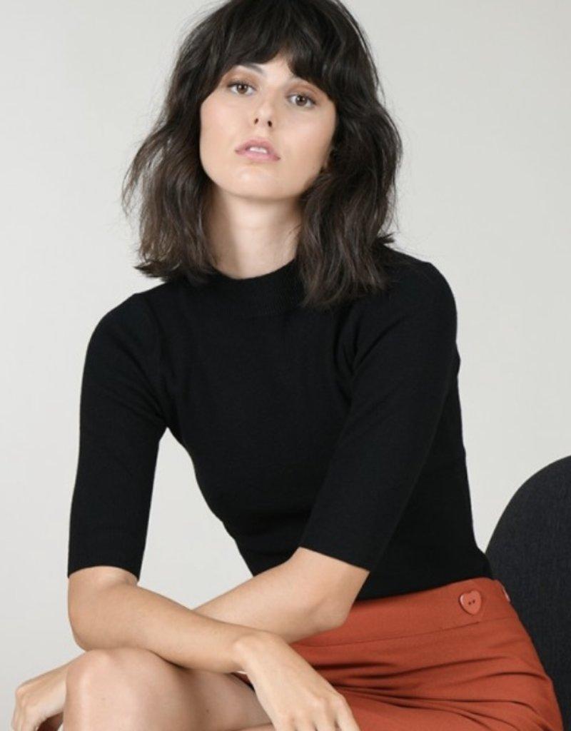 half sleeve knit top