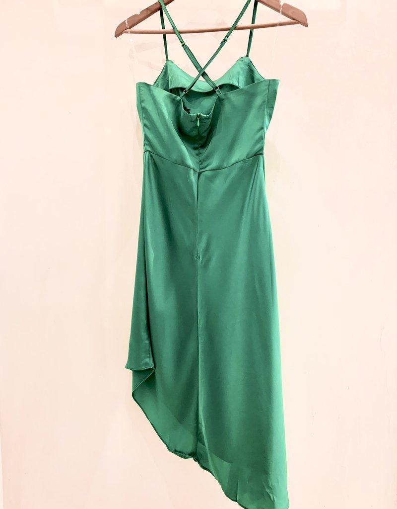 asymmetrical strappy dress