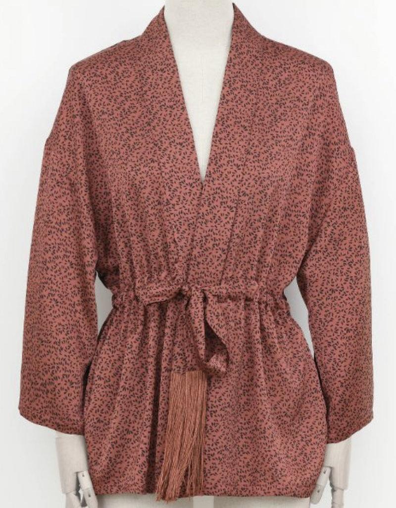 drops terracotta kimono jacket