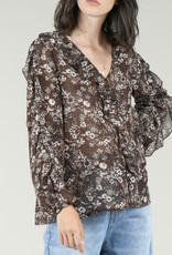 floral chiffon top