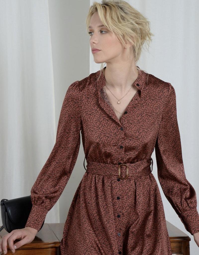 drops terracotta dress