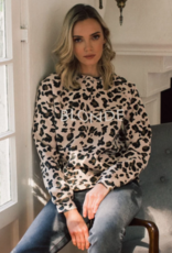blonde cheetah sweatshirt