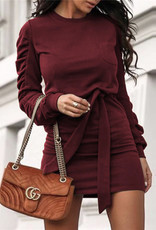 Ruched sleeve tunic/dr