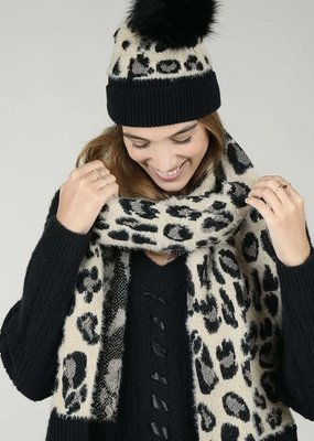 Leopard scarf set