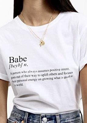 Brunette the label babe definition tee