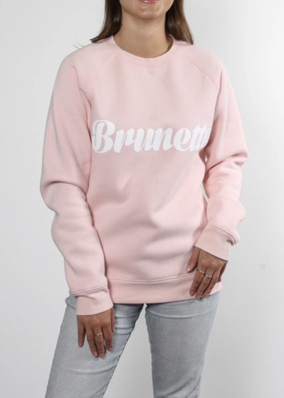 Brunette the label brunette cursive sweatshirt