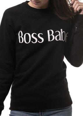 Brunette the label boss babe sweatshirt