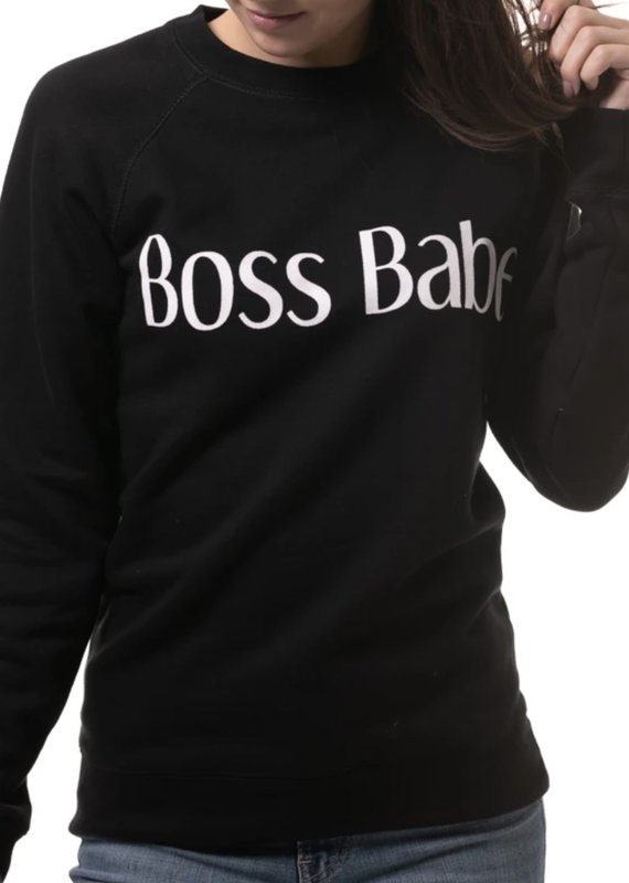 Brunette the label boss babe sweatshirt
