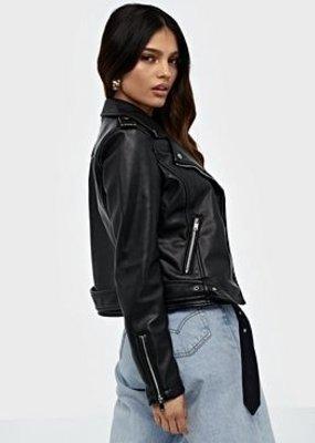 Moto jacket PU blk