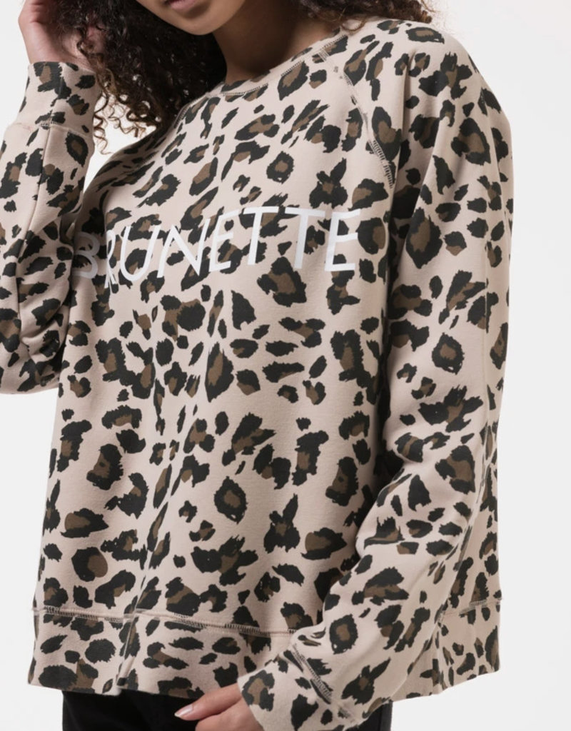 brunette cheetah sweatshirt