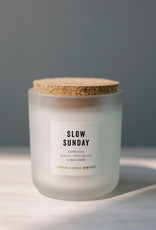 canvas candle signature collection slow Sunday scent: notes espresso, chocolate