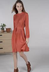 Terracotta midi dress