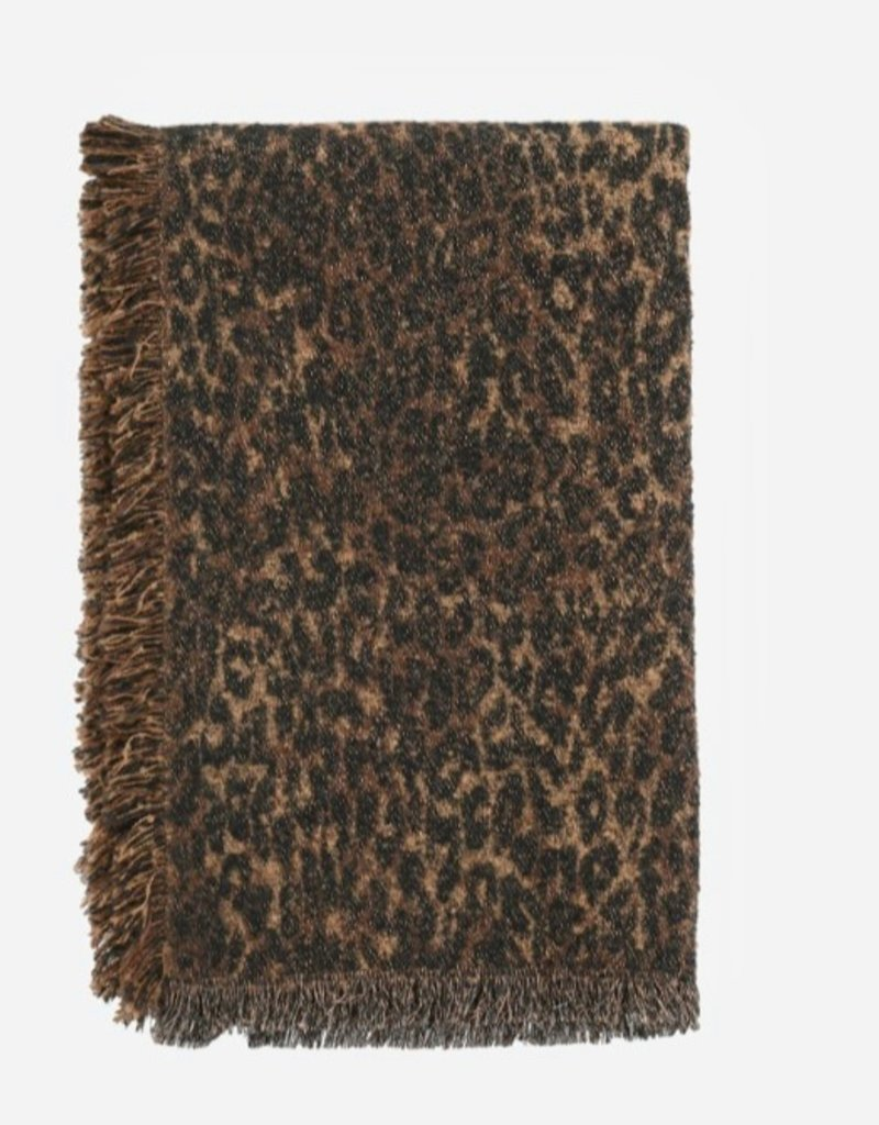 Leopard glitter large scarf