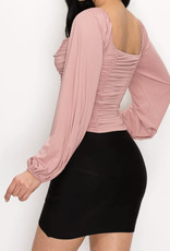 Madison ruched top