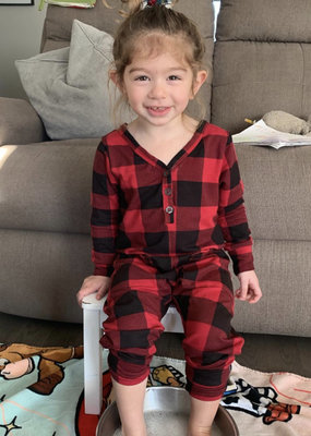 Smash + Tess Plaid Romper babe-toddler
