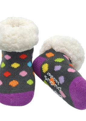 Pudus Toddler slipper sock polka dot