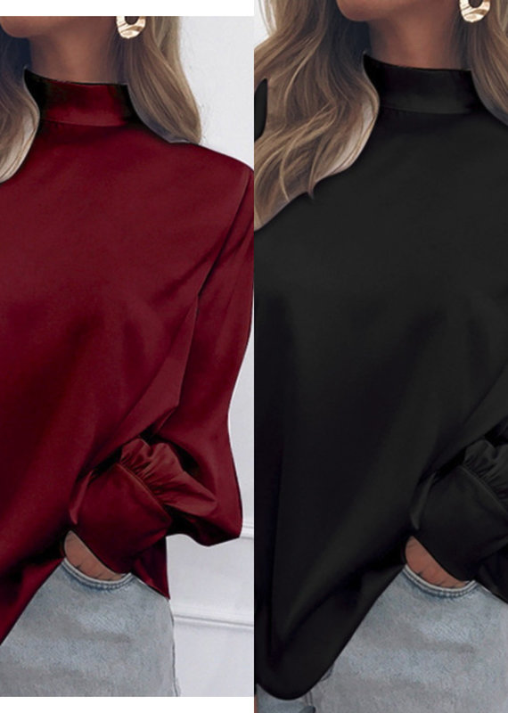 Valarie mock neck blouse