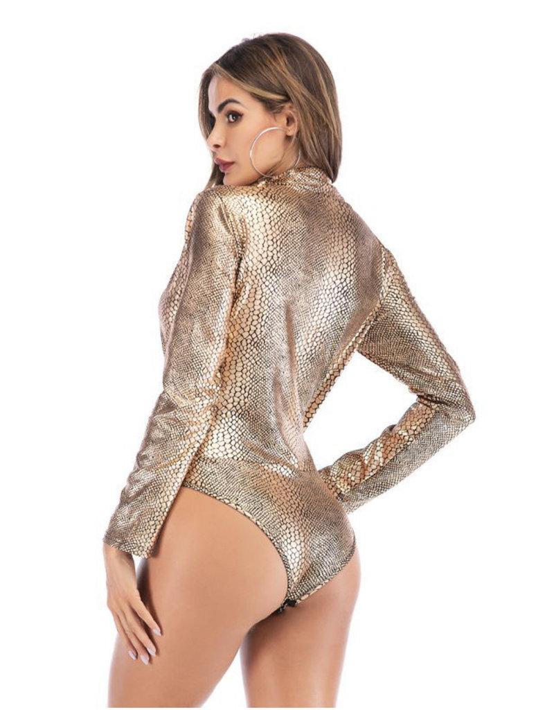 Copper snake bodysuit
