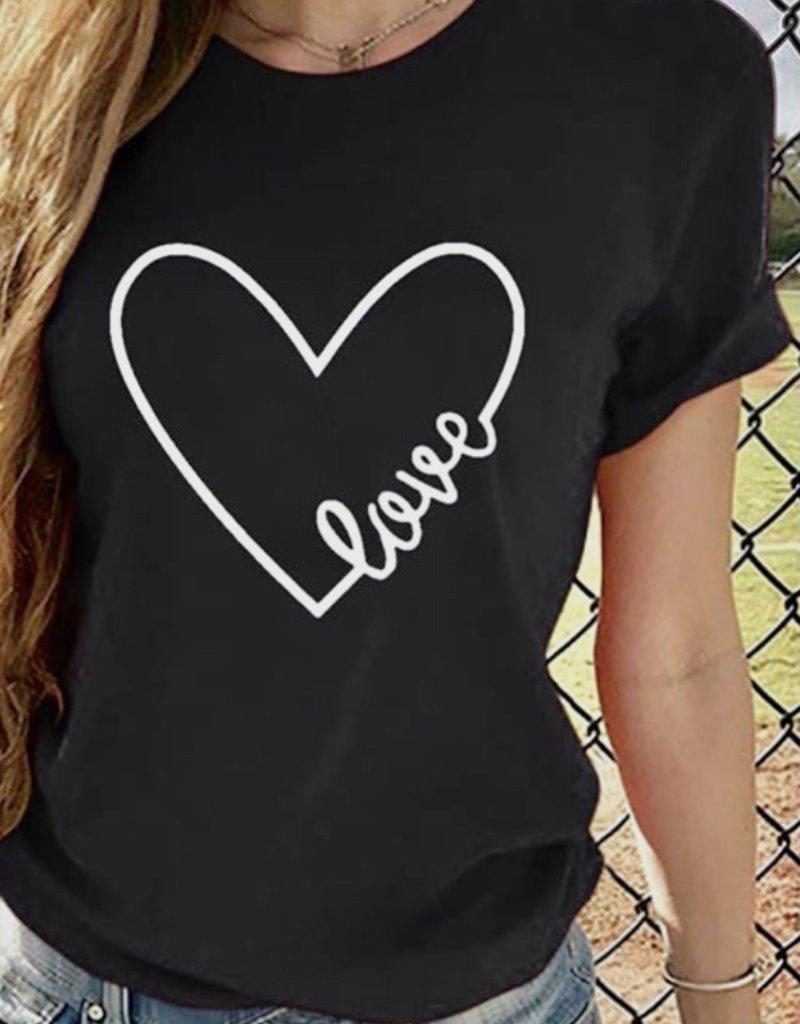 Heart love tee