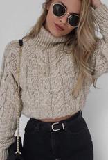 Crop mockneck sweater