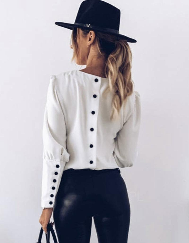 Katie button blouse
