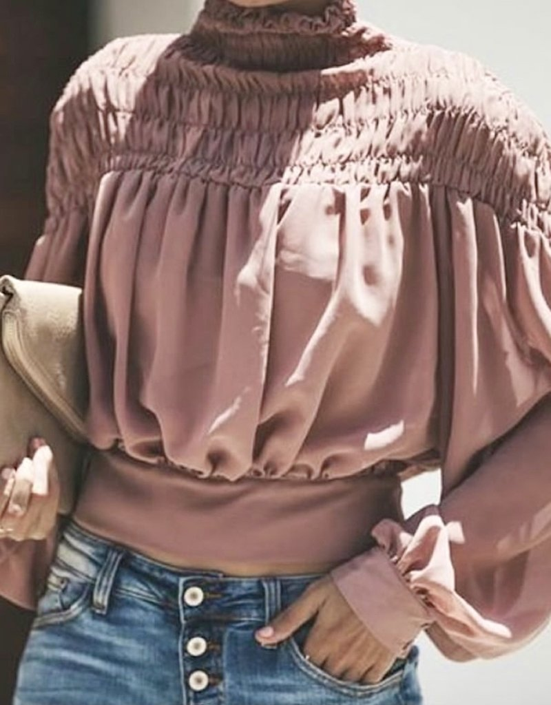 Shea pink blouse