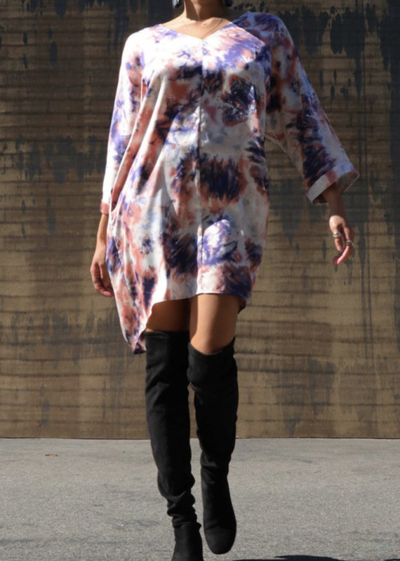 Tara tie dye tunic dress