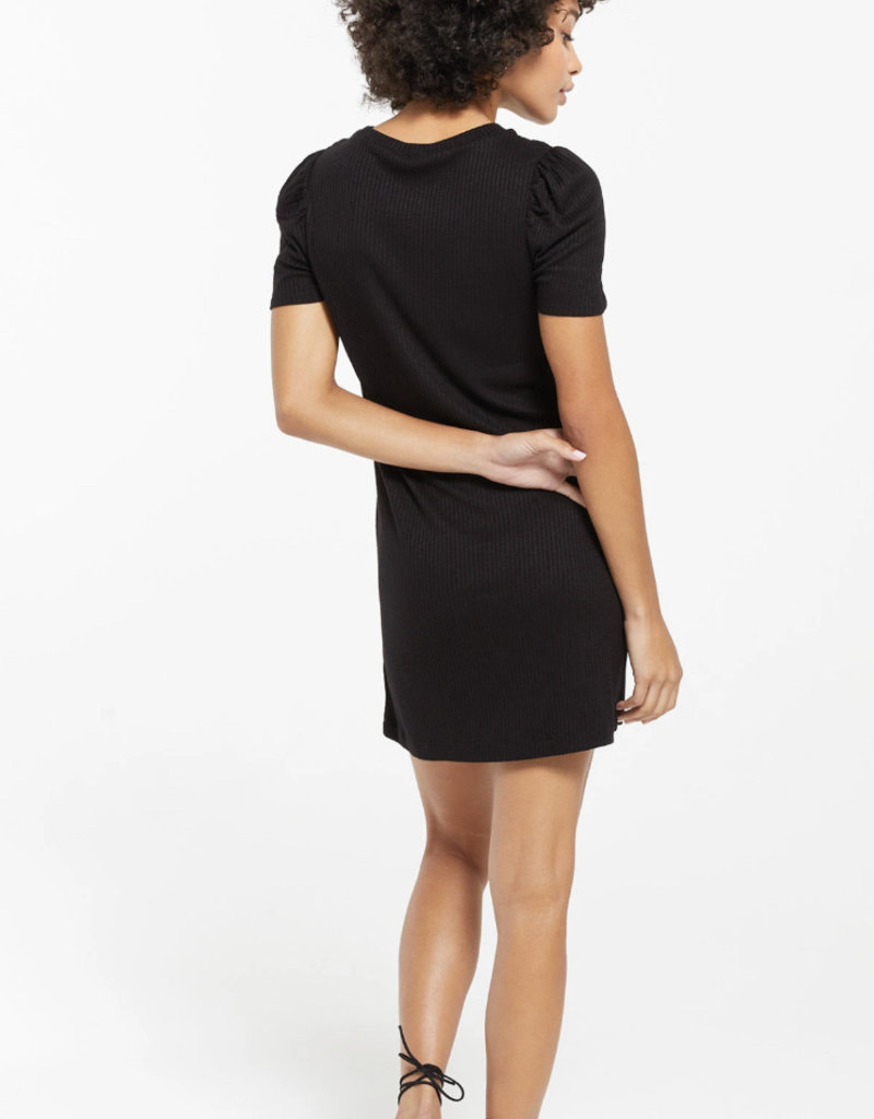 Z SUPPLY Kamryn puff slv  rib dress