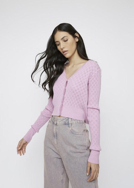 Crop knit cardigan