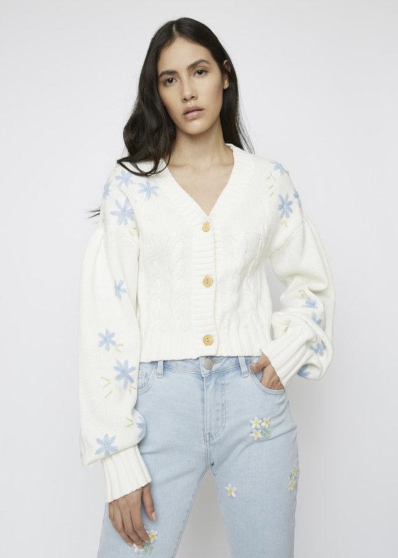 Blue flower cardigan